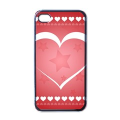 Postcard Banner Heart Holiday Love Apple Iphone 4 Case (black) by Amaryn4rt