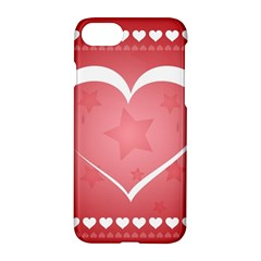 Postcard Banner Heart Holiday Love Apple Iphone 7 Hardshell Case by Amaryn4rt