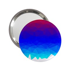 Gradient Red Blue Landfill 2 25  Handbag Mirrors
