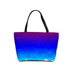 Gradient Red Blue Landfill Shoulder Handbags by Amaryn4rt