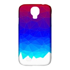 Gradient Red Blue Landfill Samsung Galaxy S4 Classic Hardshell Case (pc+silicone) by Amaryn4rt