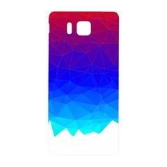 Gradient Red Blue Landfill Samsung Galaxy Alpha Hardshell Back Case by Amaryn4rt