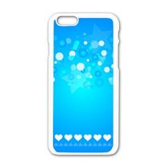 Desktop Banner Postcard Hearts Apple Iphone 6/6s White Enamel Case by Amaryn4rt