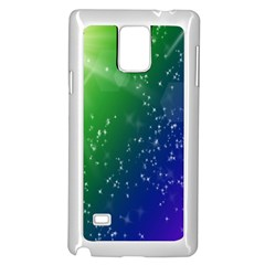 Shiny Sparkles Star Space Purple Blue Green Samsung Galaxy Note 4 Case (white) by Alisyart