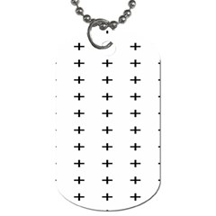Sign Cross Plus Black Dog Tag (two Sides) by Alisyart