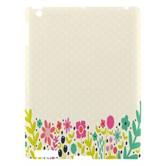Spring Floral Flower Rose Tulip Leaf Flowering Color Apple Ipad 3/4 Hardshell Case by Alisyart