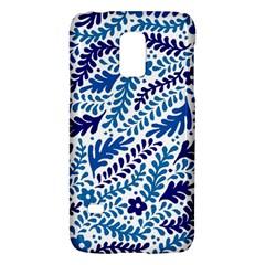 Spring Flower Leaf Blue Galaxy S5 Mini by Alisyart