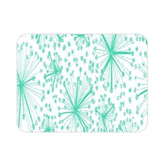 Spring Floral Green Flower Double Sided Flano Blanket (mini)  by Alisyart