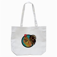 Rooster Poultry Animal Farm Tote Bag (white) by Amaryn4rt