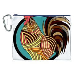 Rooster Poultry Animal Farm Canvas Cosmetic Bag (xxl) by Amaryn4rt