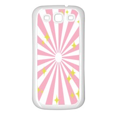 Star Pink Hole Hurak Samsung Galaxy S3 Back Case (white) by Alisyart