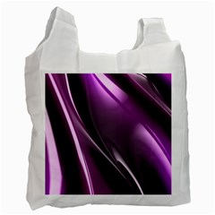 Purple Fractal Mathematics Abstract Recycle Bag (two Side)