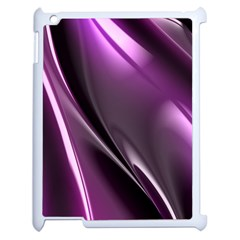 Purple Fractal Mathematics Abstract Apple Ipad 2 Case (white) by Amaryn4rt