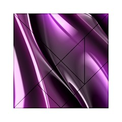Purple Fractal Mathematics Abstract Acrylic Tangram Puzzle (6  X 6 ) by Amaryn4rt
