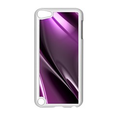 Purple Fractal Mathematics Abstract Apple Ipod Touch 5 Case (white) by Amaryn4rt