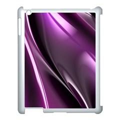 Purple Fractal Mathematics Abstract Apple Ipad 3/4 Case (white) by Amaryn4rt