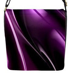 Purple Fractal Mathematics Abstract Flap Messenger Bag (s) by Amaryn4rt