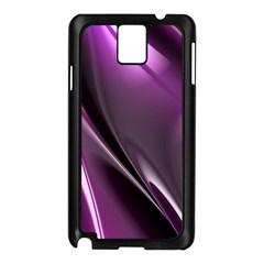 Purple Fractal Mathematics Abstract Samsung Galaxy Note 3 N9005 Case (black) by Amaryn4rt