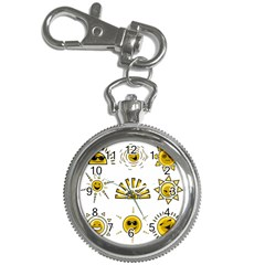 Sun Expression Smile Face Yellow Key Chain Watches by Alisyart