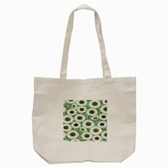 Sunflower Flower Floral Tote Bag (cream) by Alisyart