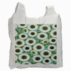 Sunflower Flower Floral Recycle Bag (one Side) by Alisyart