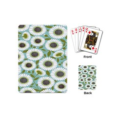 Sunflower Flower Floral Playing Cards (mini)  by Alisyart