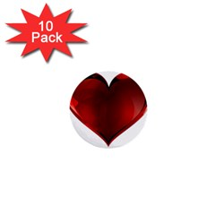 Heart Gradient Abstract 1  Mini Buttons (10 pack)  by Amaryn4rt