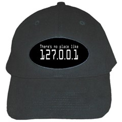 There s No Place Like Number Sign Black Cap by Alisyart