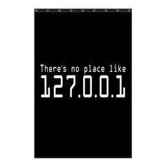 There s No Place Like Number Sign Shower Curtain 48  X 72  (small)  by Alisyart