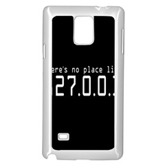 There s No Place Like Number Sign Samsung Galaxy Note 4 Case (white) by Alisyart