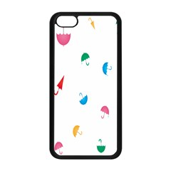 Umbrella Green Orange Red Blue Pink Water Rain Apple Iphone 5c Seamless Case (black) by Alisyart