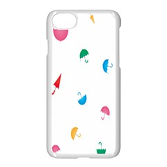 Umbrella Green Orange Red Blue Pink Water Rain Apple Iphone 7 Seamless Case (white) by Alisyart
