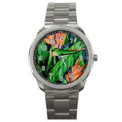 Flowers Art Beautiful Sport Metal Watch by Amaryn4rt