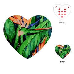 Flowers Art Beautiful Playing Cards (heart)
