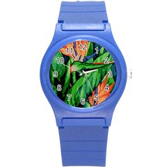 Flowers Art Beautiful Round Plastic Sport Watch (s) by Amaryn4rt