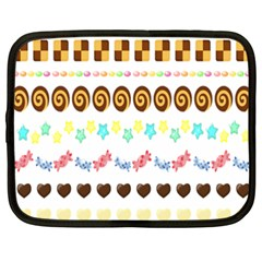 Sunflower Plaid Candy Star Cocolate Love Heart Netbook Case (xxl)  by Alisyart