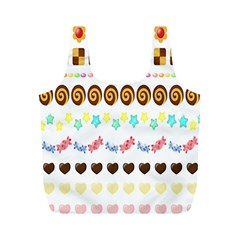 Sunflower Plaid Candy Star Cocolate Love Heart Full Print Recycle Bags (m)  by Alisyart