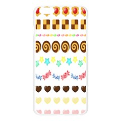 Sunflower Plaid Candy Star Cocolate Love Heart Apple Seamless iPhone 6 Plus/6S Plus Case (Transparent) by Alisyart
