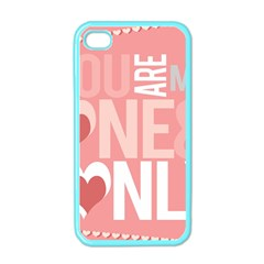 Valentines Day One Only Pink Heart Apple Iphone 4 Case (color) by Alisyart