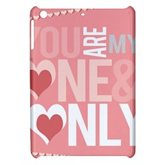 Valentines Day One Only Pink Heart Apple Ipad Mini Hardshell Case by Alisyart