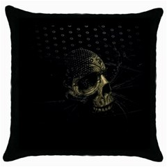 Skull Fantasy Dark Surreal Throw Pillow Case (black)