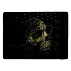 Skull Fantasy Dark Surreal Samsung Galaxy Tab Pro 12 2  Flip Case by Amaryn4rt