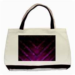 Purple Background Wallpaper Motif Design Basic Tote Bag (two Sides) by Amaryn4rt