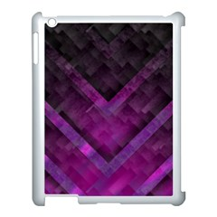 Purple Background Wallpaper Motif Design Apple Ipad 3/4 Case (white) by Amaryn4rt