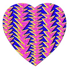 Triangle Pink Blue Jigsaw Puzzle (heart) by Alisyart