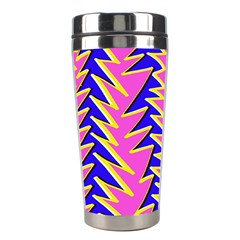 Triangle Pink Blue Stainless Steel Travel Tumblers by Alisyart