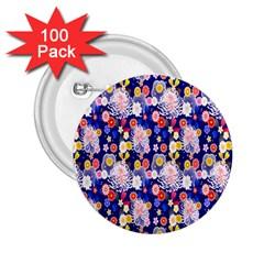 Season Flower Arrangements Purple 2 25  Buttons (100 Pack)  by Alisyart