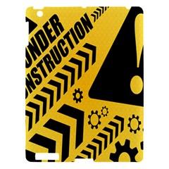 Under Construction Line Maintenen Progres Yellow Sign Apple Ipad 3/4 Hardshell Case by Alisyart