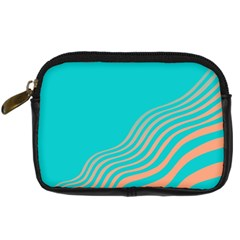 Water Waves Blue Orange Digital Camera Cases by Alisyart