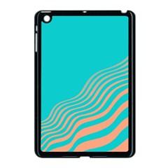 Water Waves Blue Orange Apple Ipad Mini Case (black) by Alisyart